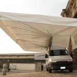 Riducibile inox a doppia tenda
